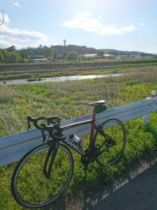 ロードバイクと景色