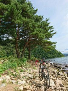 自転車と風景の写真