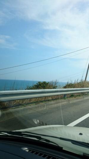 車からの海