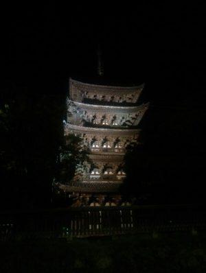 五重塔ライトアップの画像