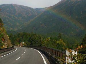 目の前に虹画像