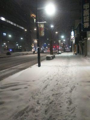 大通り雪景色