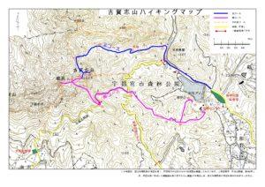 古賀志山登山コース地図
