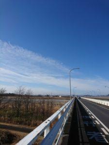 空と道路の画像