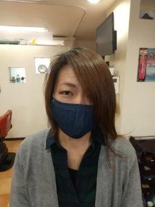 マスク装着画像